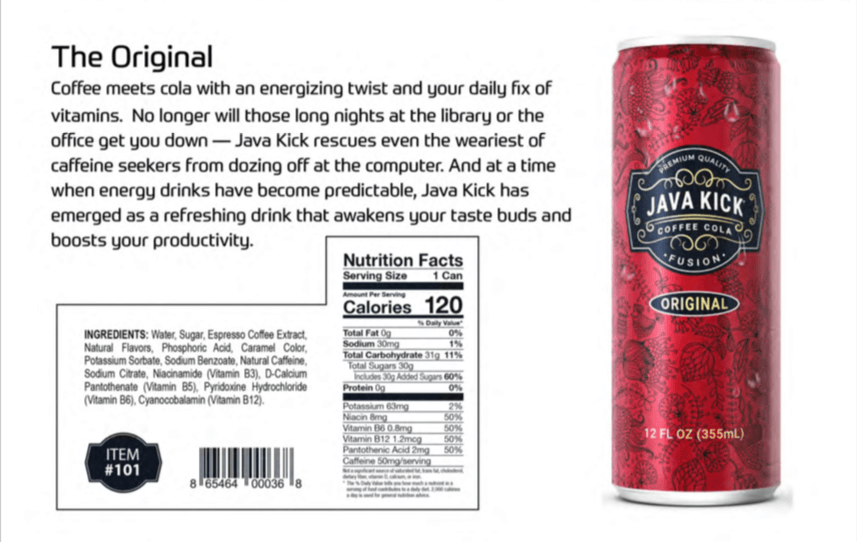 Java Kick The original Flavor